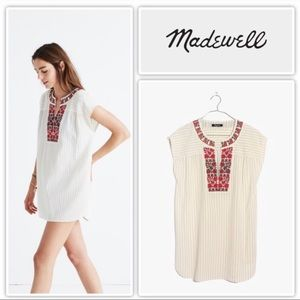 MADEWELL Embroidered Belize Cover-Up Tunic M
